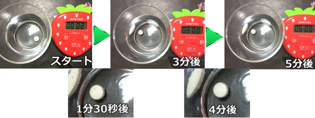 オリヒロ_グルコサミンの溶け方